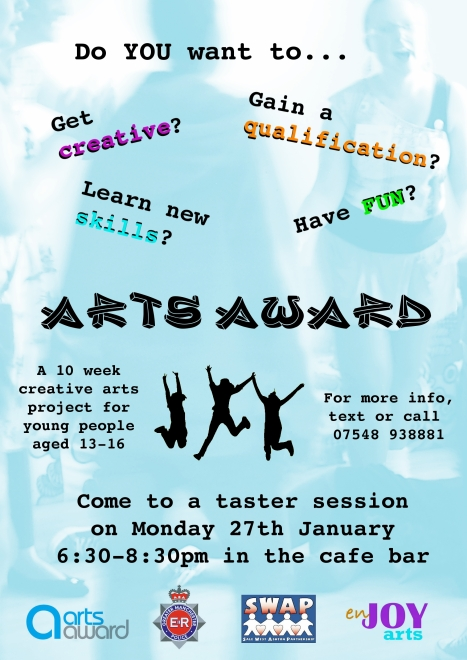 Arts Award Trafford Flyer Updated