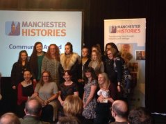 Receiving a Community Histories Award for Tales of Manchester Life